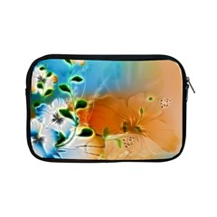 Wonderful Flowers In Colorful And Glowing Lines Apple iPad Mini Zipper Cases