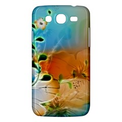 Wonderful Flowers In Colorful And Glowing Lines Samsung Galaxy Mega 5.8 I9152 Hardshell Case