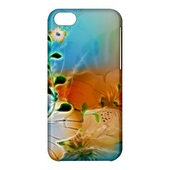 Wonderful Flowers In Colorful And Glowing Lines Apple iPhone 5C Hardshell Case