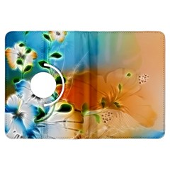 Wonderful Flowers In Colorful And Glowing Lines Kindle Fire HDX Flip 360 Case