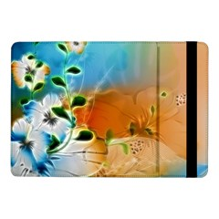 Wonderful Flowers In Colorful And Glowing Lines Samsung Galaxy Tab Pro 10.1  Flip Case