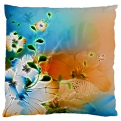Wonderful Flowers In Colorful And Glowing Lines Standard Flano Cushion Cases (one Side)