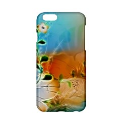 Wonderful Flowers In Colorful And Glowing Lines Apple iPhone 6/6S Hardshell Case