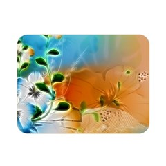 Wonderful Flowers In Colorful And Glowing Lines Double Sided Flano Blanket (Mini)