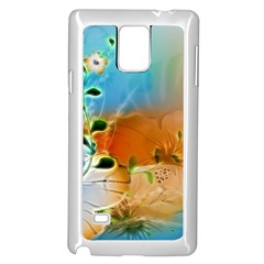 Wonderful Flowers In Colorful And Glowing Lines Samsung Galaxy Note 4 Case (white)