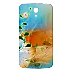Wonderful Flowers In Colorful And Glowing Lines Samsung Galaxy Mega I9200 Hardshell Back Case