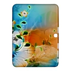 Wonderful Flowers In Colorful And Glowing Lines Samsung Galaxy Tab 4 (10.1 ) Hardshell Case