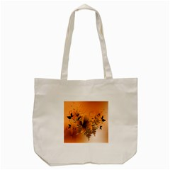 Awesome Summer  Flowers In Soft Red And Yellow Tote Bag (Cream)