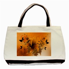 Awesome Summer  Flowers In Soft Red And Yellow Basic Tote Bag (Two Sides)
