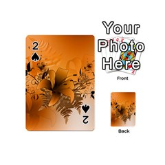 Awesome Summer  Flowers In Soft Red And Yellow Playing Cards 54 (Mini)