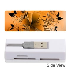 Awesome Summer  Flowers In Soft Red And Yellow Memory Card Reader (Stick)