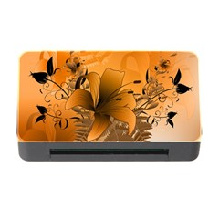 Awesome Summer  Flowers In Soft Red And Yellow Memory Card Reader with CF