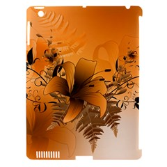 Awesome Summer  Flowers In Soft Red And Yellow Apple iPad 3/4 Hardshell Case (Compatible with Smart Cover)