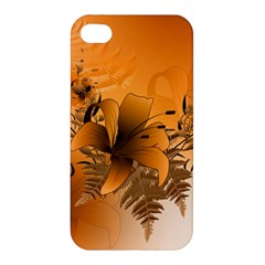 Awesome Summer  Flowers In Soft Red And Yellow Apple iPhone 4/4S Premium Hardshell Case