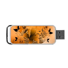 Awesome Summer  Flowers In Soft Red And Yellow Portable USB Flash (Two Sides)