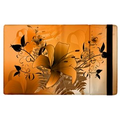 Awesome Summer  Flowers In Soft Red And Yellow Apple iPad 2 Flip Case