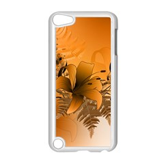 Awesome Summer  Flowers In Soft Red And Yellow Apple iPod Touch 5 Case (White)