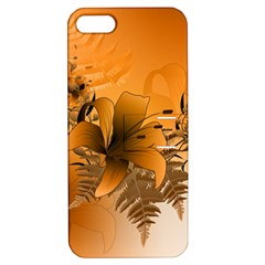 Awesome Summer  Flowers In Soft Red And Yellow Apple iPhone 5 Hardshell Case with Stand