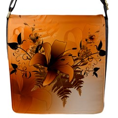 Awesome Summer  Flowers In Soft Red And Yellow Flap Messenger Bag (S)