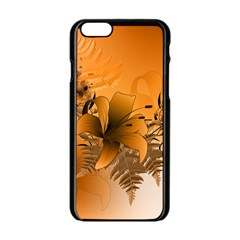 Awesome Summer  Flowers In Soft Red And Yellow Apple iPhone 6 Black Enamel Case
