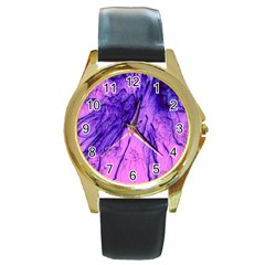 Special Fireworks Pink,blue Round Gold Metal Watches