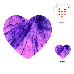 Special Fireworks Pink,blue Playing Cards (heart)