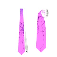 Special Fireworks Pink,blue Neckties (one Side)