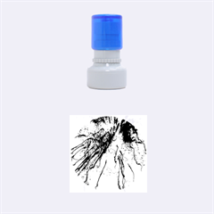 Special Fireworks Pink,blue Rubber Round Stamps (Small)