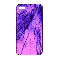 Special Fireworks Pink,blue Apple iPhone 4/4s Seamless Case (Black)