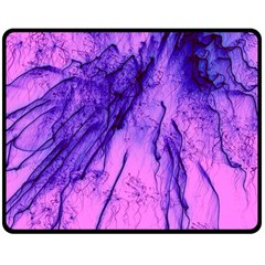 Special Fireworks Pink,blue Double Sided Fleece Blanket (Medium)