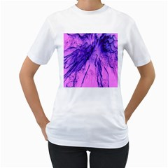 Special Fireworks Pink,blue Women s T-Shirt (White)