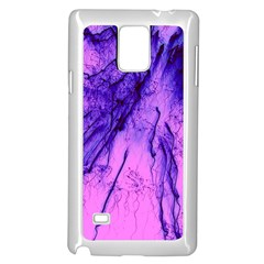 Special Fireworks Pink,blue Samsung Galaxy Note 4 Case (White)