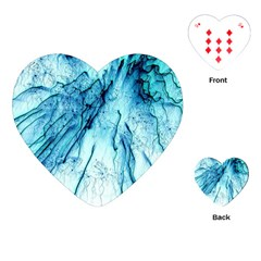 Special Fireworks, Aqua Playing Cards (Heart)