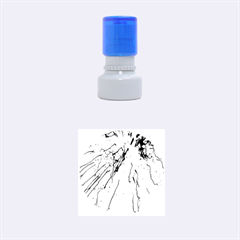 Special Fireworks, Aqua Rubber Round Stamps (Small)