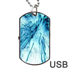 Special Fireworks, Aqua Dog Tag USB Flash (Two Sides)