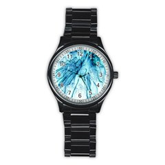 Special Fireworks, Aqua Stainless Steel Round Watches