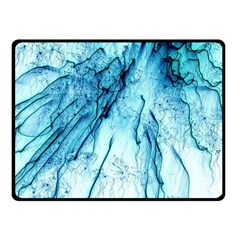 Special Fireworks, Aqua Double Sided Fleece Blanket (Small)