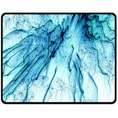 Special Fireworks, Aqua Double Sided Fleece Blanket (Medium)