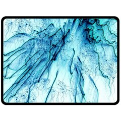 Special Fireworks, Aqua Double Sided Fleece Blanket (Large)