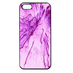 Special Fireworks, Pink Apple iPhone 5 Seamless Case (Black)