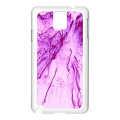 Special Fireworks, Pink Samsung Galaxy Note 3 N9005 Case (White)
