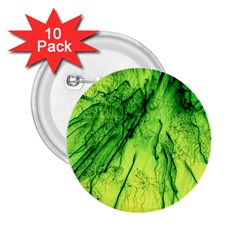 Special Fireworks, Green 2.25  Buttons (10 pack)