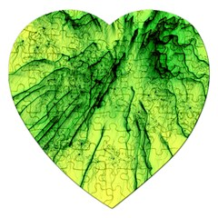Special Fireworks, Green Jigsaw Puzzle (Heart)