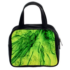 Special Fireworks, Green Classic Handbags (2 Sides)