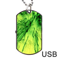 Special Fireworks, Green Dog Tag USB Flash (Two Sides)