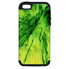 Special Fireworks, Green Apple iPhone 5 Hardshell Case (PC+Silicone)
