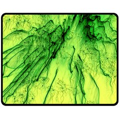 Special Fireworks, Green Double Sided Fleece Blanket (Medium)