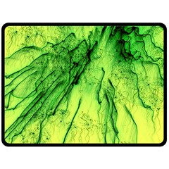 Special Fireworks, Green Double Sided Fleece Blanket (Large)