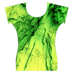 Special Fireworks, Green Women s Cap Sleeve Top