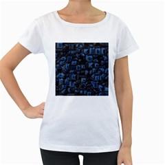 Metalart 23 Blue Women s Loose Fit T Shirt (white)